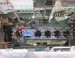 Kurbelwellenreparatur Hanshin Diesel 6LF58 Italien