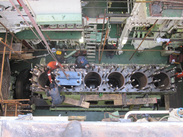 Hanshin crankshaft repair