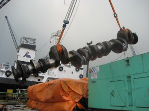 Engine Repair Hanshin Diesel 6LF58 Crankshaft