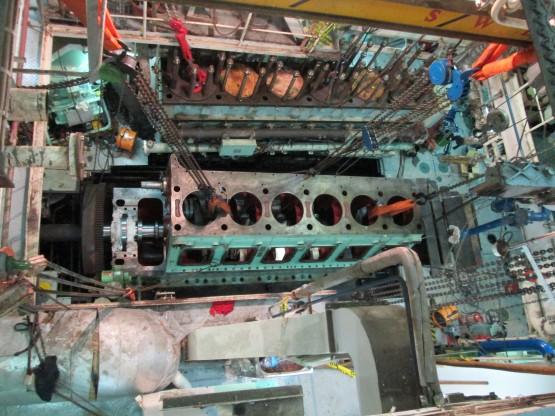 Bengi Hanshin diesel crankshaft repair