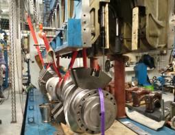 Wartsila Kurbelwellenreparatur und -überholung von 3x 8L32 und 2x 12V32
